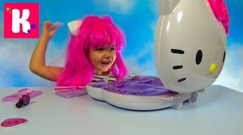 Видео Хеллоу Китти набор косметики и парик / Обзор игрушек Hello Kitty