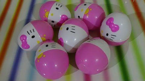 Видео Хеллоу Китти яйца с сюрпризом/ HELLO KITTY/ обзор игрушек