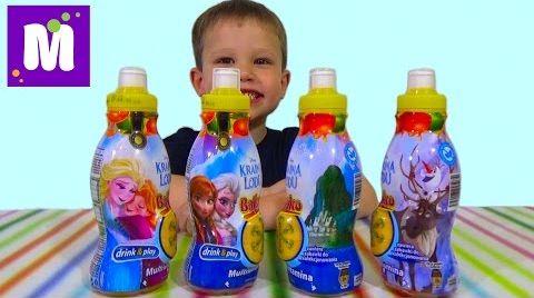 Видео Холодное сердце Дисней сок с сюрпризом игрушкой распаковка