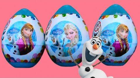 Видео Холодное сердце Фроузен яйца с сюрпризом игрушки