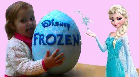Видео Холодное Сердце Огромное яйцо с сюрпризом / обзор игрушек