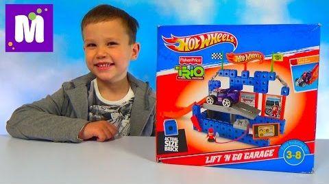 Видео Хот Вилс конструктор с подъёмным механизмом и машинка Hot Wheels