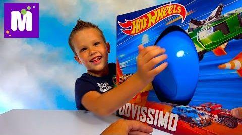Видео ХотВилс Мега большое яйцо много игрушек и трек Hot Wheels Zombie Strike