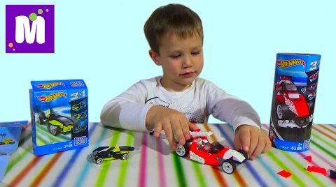 Видео Хотвилс Мегаблокс конструктор собираем машинки распаковка игрушек