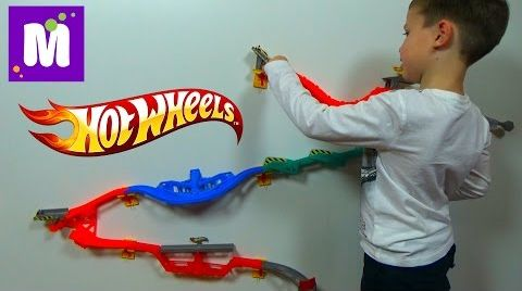 Видео Хотвилс настенная трасса трек Горилла Разрушитель Hot Wheels