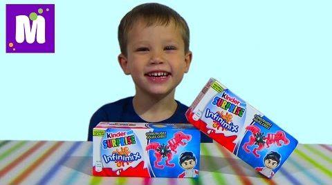 Видео Инфинимикс сюрприз коробочка Киндер распаковка игрушек