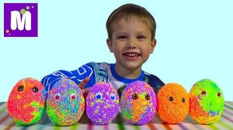 Видео Животные заводные сюрприз из шарикового пластилина игрушки