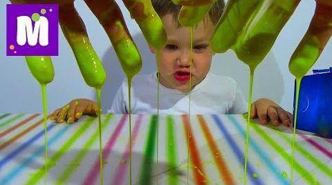 Видео Жвачка для рук химический опыт дома