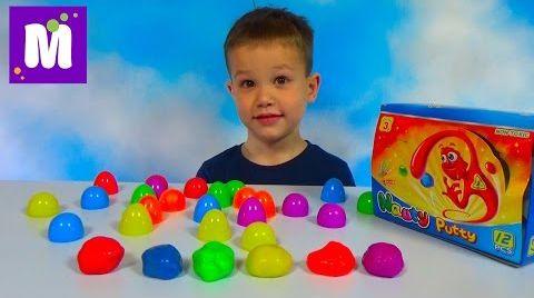 Видео Жвачка для рук набор в яйцах прыгающая игрушка Silly Hand Gum