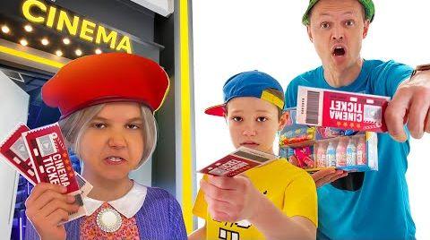 Видео Как Макс и папа проносили сладости в кинотеатр