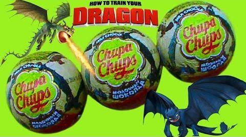 Видео Как приручить дракона игрушки в шарах Чупа Чупс сюрприз