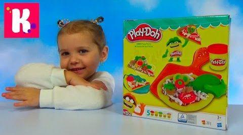 Видео Катя делает игрушечную пиццу из пластилина Play - Doh / распаковка набора