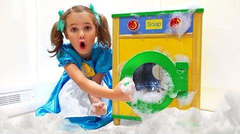 Видео Катя и её приключения со стиральной машиной