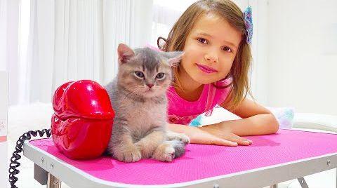 Видео Катя и Макс купают котят
