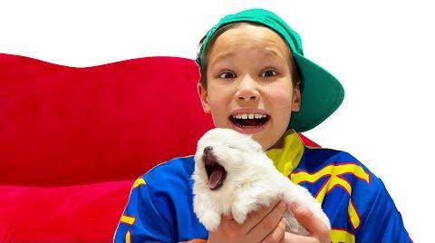 Видео Катя и Макс нашли маленького щеночка на пороге своего дома