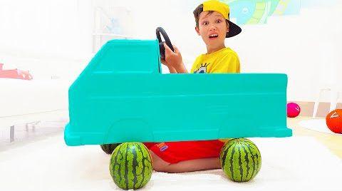 Видео Катя и Макс построили новую машину
