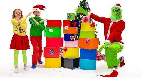 Видео Катя и Макс пригласили Гринча на Рождество