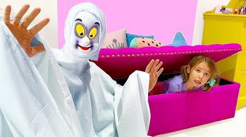 Видео Катя и Макс устроили прятки в доме с привидением