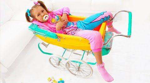 Видео Катя как Малыш и ездит в коляске