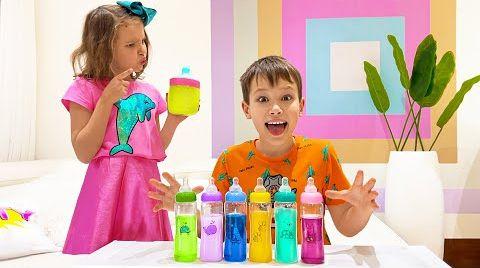 Видео Катя не разрешает Максу конфетные бутылки