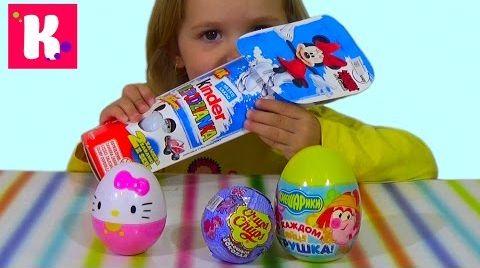 Видео Катя открывает сюрпризы/ обзор игрушек