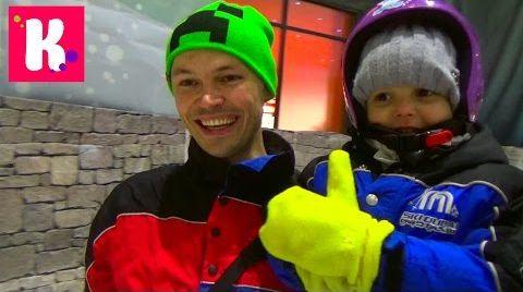 Видео Катя в Дубаи День#7 едем кататься на санках со снежных горок в Ski Dubai resort