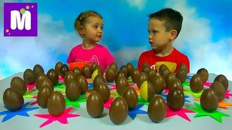 Видео Киндер Челлендж 50 яиц кто больше соберёт коллекционных игрушек из Kinder