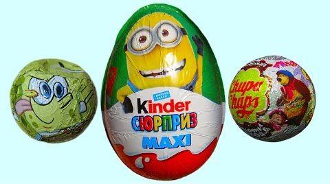 Видео Киндер и яйца с сюрпризом/ обзор игрушек