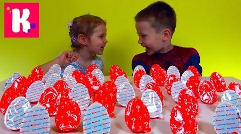 Видео Киндер Joy Челлендж / 50 яиц / Кто больше соберёт игрушек?!