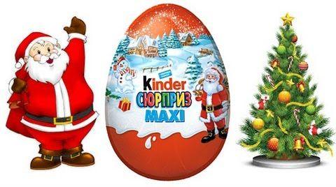 Видео Киндер Макси новогодний / Kinder Maxi /обзор игрушек