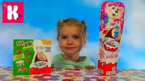 Видео Киндер сюрприз Новогодняя серия / Обзор игрушек