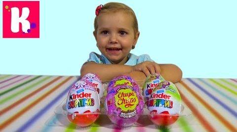 Видео Киндер Сюрприз/ Распаковка игрушек