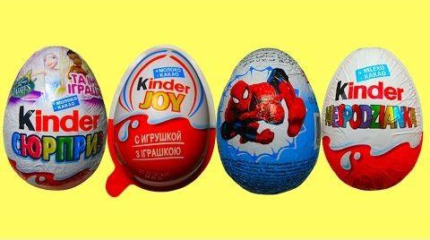 Видео Киндер сюрприз яйца / обзор игрушек