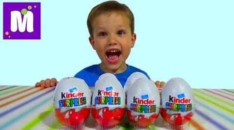 Видео Киндер Сюрприз яйца распаковка Kinder Surprise