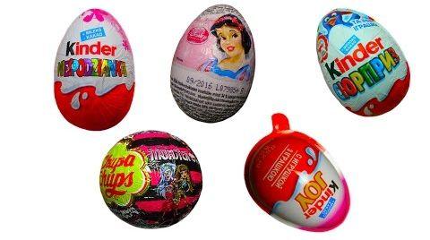 Видео Киндер яйца / обзор игрушек