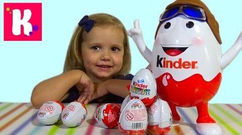 Видео Киндерино большое яйцо с сюрпризом / распаковка
