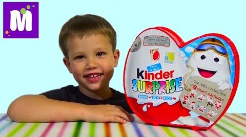 Видео Киндерино Спорт набор сюрпризов распаковка Kinder Surprise