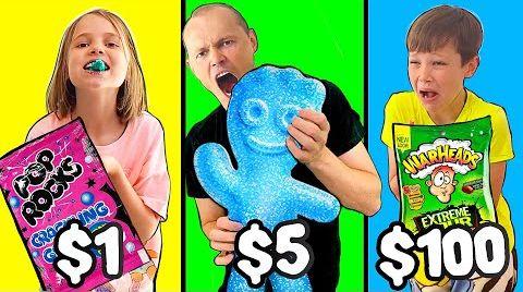 Видео Кислые конфеты челлендж на деньги