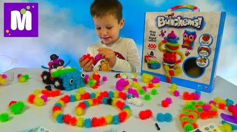 Видео Конструктор Банчемс делаем цветные животные из шариков Banchems