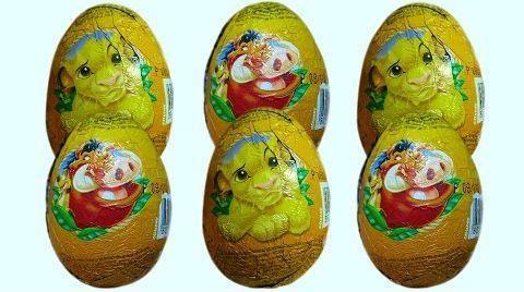 Видео Король Лев яйца с сюрпризом/обзор игрушек