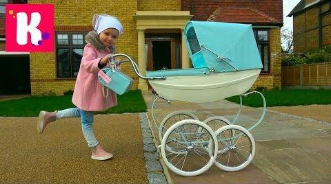 Видео Королевская коляска для куклы Baby Born / Катя купила коляску Silver Cross для Эмили