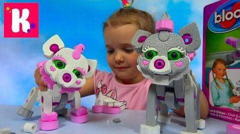Видео Кошка и котёнок из мягкого конструктора Bloco / Обзор игрушки