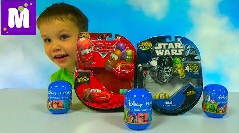 Видео Крутые Бобы Звёздные Войны и Тачки Дисней игрушки гонки по треку