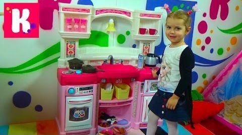 Видео Кухня для девочек с приборами / Распаковка и Обзор
