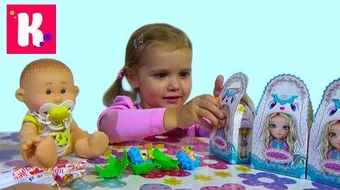 Видео Кукла пупс с ароматом /Сюрпризы малыши и сестрички / игрушки Yogurtinis