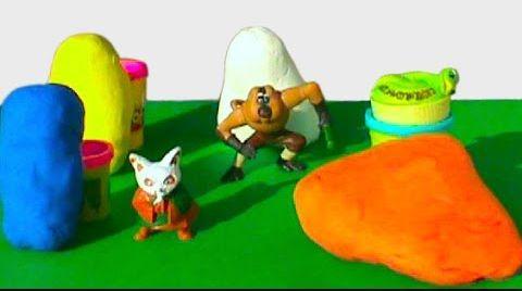 Видео Кунг фу Панда Яйца сюрприз ПлэйДо Play-Doh игрушки