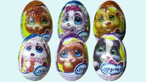 Видео Лапусики яйца сюрприз распаковка
