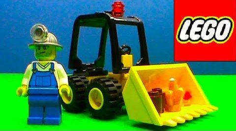 Видео Лего Сити Lego City Бульдозер погрузчик 30151