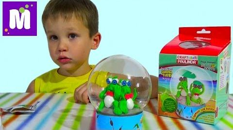 Видео Лепим лягушек из воздушного теста распаковка набора