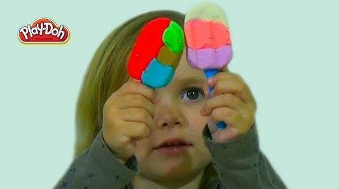 Видео Лепим Мороженное на палочке из Play-Doh